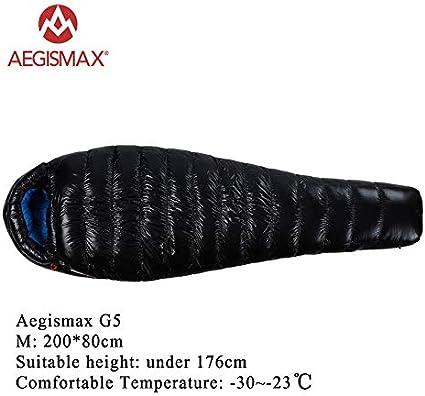 AEGISMAX 800 Sac de Couchage en Duvet doie Sac de Couchage Momie L/éger pour la Randonn/ée Le Camping et la