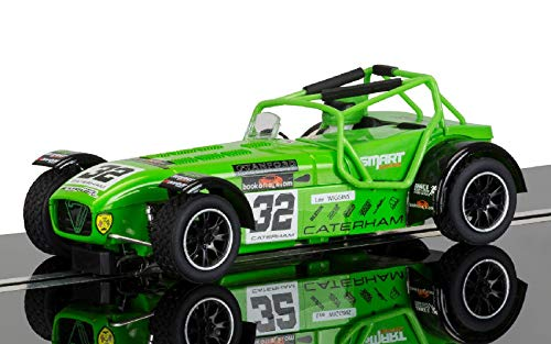 CATERHAM SUPERLIGHT N.32 LEE WIGGINS 1 32 - Scalextric - Slot - Die Cast - Modellino