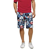 Loudmouth Golf StretchTech - John Daly Fun Midnight Lagoon Men's Short