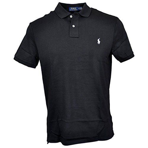 (Polo Ralph Lauren Men Medium Fit Soft Touch Polo Shirt, Polo Black, M)