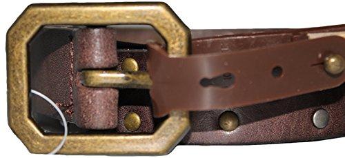Nine West Brown Belt Genuine Leather Bronze & Silver Studded 374031 ()