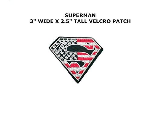 Superman Superhero Embroidered Velcro Tactical Comics Cartoo