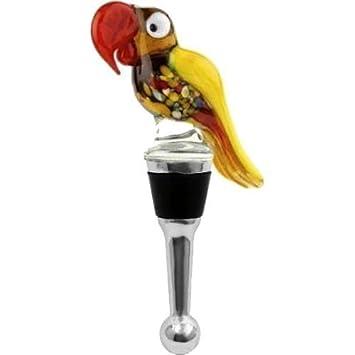 LS Arts Parrot tapón para botella de vino, diseño de jardín, césped, Mantenimiento