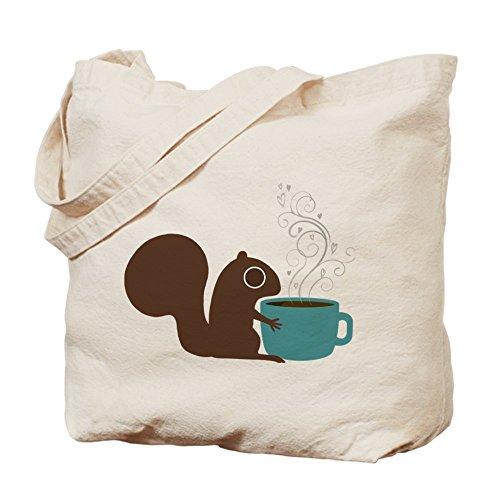 CafePress–Caffè Scoiattolo–Borsa di tela naturale, panno borsa per la spesa