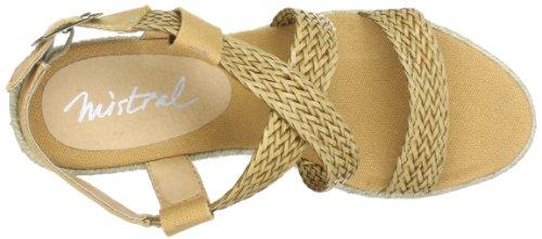 Mistral Lady Sugar 23143 - Sandalias de cuero para mujer Beige (Beige (sand 604))