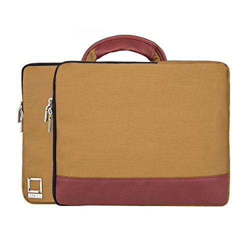 lencca-divisio-tan-wine-twill-sleeve-with-handle-for-lenovo-ideapad-yoga-flex-11-13inch