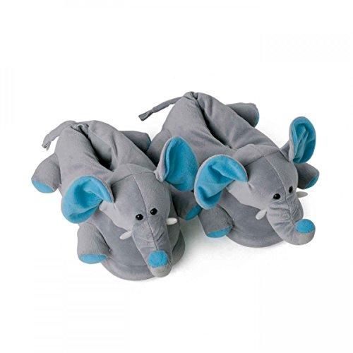 Et Enfants Tailles 44 Caoutchouc Solide Adultes Avec Gris Elephant Animaux Semelle 39 Fantaisie Funslippers® Chaussons SUZWFZI
