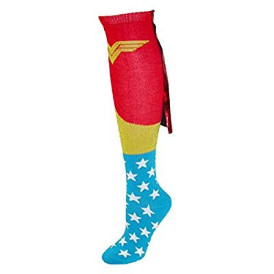BioWorld Wonder Woman Knee High Shiny Red Caped Socks