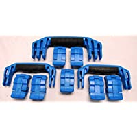3 Blue Replacement Handles / 7 Latches for Pelican 1650. Customize your Pelican 1650 Case.