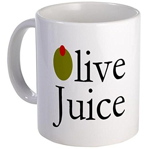 11 ounce Mug - Olive Juice Mug - S White