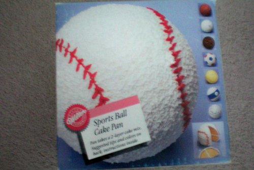 Wilton Sports Ball Cake Pan -- baseball, basketball, bowling, soccer, tennis, pool -- complete with directions