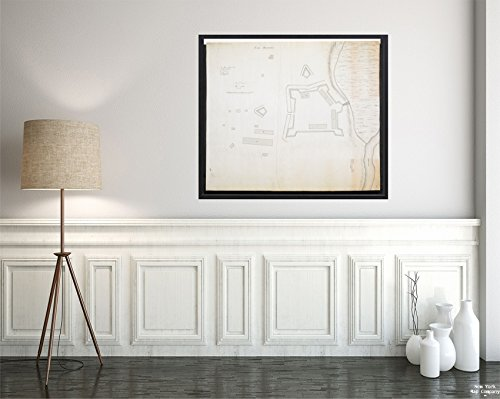 Map Pennsylvania|Bedford|Bedford Fort Bedford Date attributed Based on Location Shown (Fort Bed|Vintage Fine Art Reproduction|Ready to Frame