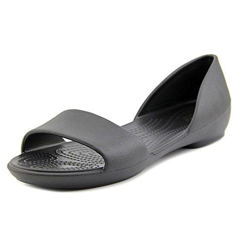 crocs Damen Linadorsayflat Geschlossene Ballerinas Black