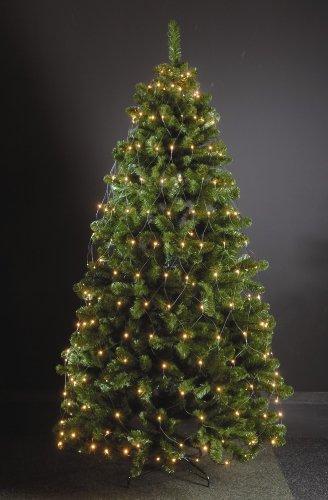 Weihnachtsbeleuchtung Außen Für Große Bäume.240 Led Trapez Kegel Warmweiß Netz Für Weihnachtsbaum Timer 170 210cm Lichternetz