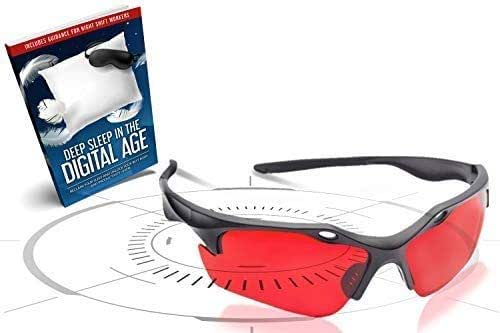 Sleep Savior ® Red Night Glasses – Blocks More Disruptive Light Than Blue Blockers – for Men and Women – Therapeutic Lenses to Increase Melatonin Naturally and Help You Sleep Better