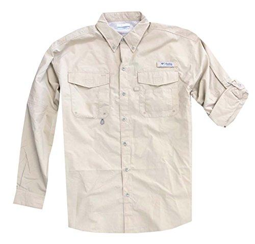 544464d1319 Columbia Men's PFG Omni-Shade UPF 30 Distant Water Convertible Sleeve Shirt