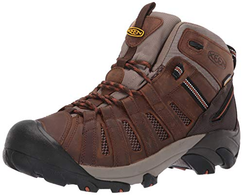 - KEEN Utility Men's Cody Mid Waterproof (Soft Toe) EH-Rated Waterproof Work Industrial Boot Cascade Brown/Caramel Cafe 8 D US