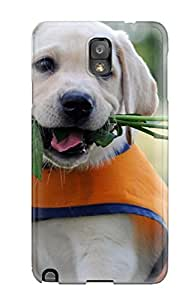 New Top Arrival Case Cover With ZwgBZJj4862ZaftP Design For Galaxy Note 3- Puppy Brings Flowers