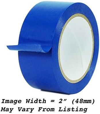 Medium Blue Vinyl Tape 1 inch x 36 yd SPVC 1 roll