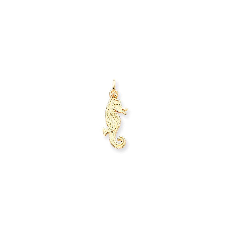 10k Yellow Gold Seahorse Charm