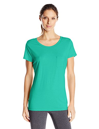 Hanes Women's Short Sleeve Pocket Tee, Breezy Green, XX-Large