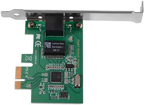 RTL8111E 10//100//1000Mbps PCI-E Gigabit Ethernet LAN Network Card Adapter for Desktop AC331 Green