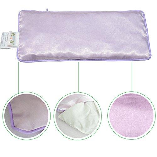 ANGTUO Yoga Oreillers Oeil Pure Soie Remplie de Graines de Lin et de Lavande Sacs à Yeux pour Compresses Froides et Chaudes