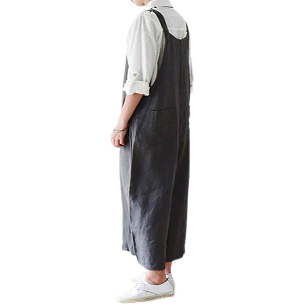 ZZLBUF höstkläder för kvinnor, enfärgade avslappnade breda byxor med fickor Grå