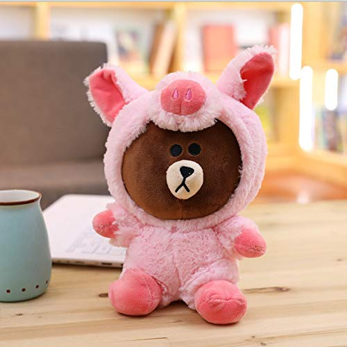 BoldType Bear - Brown Bear Plush Toy Korean Bear in Dinosaur/Pig/Dog/Suit Cute Animal Stuffed Soft Doll Anime Figure Baby Kids Toys Child's Gift 1 PCs]()