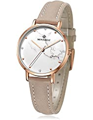MOVEBEST Womens Wrist Watch, Simple Business Casual Fashion Classic Analog (Quartz) Watches, Waterproof 30M Ultra...