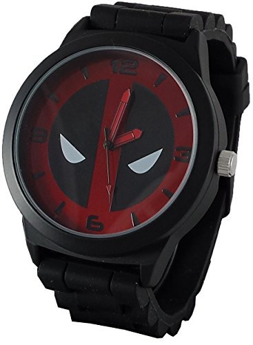 - Marvel Deadpool Mens Black Watch with Stainless Steel Face DEP1921