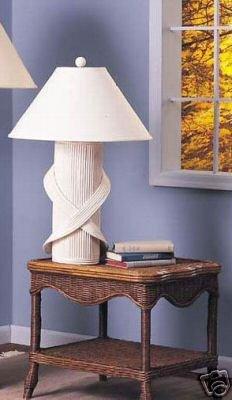 White Wicker Empire Table Lamp Amazon Com