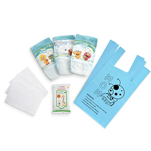Baby Changing Travel Kit – Includes Size 3 Diapers, Changing Pads, Wipes & Diaper Bags – 3 Pack, Each Containing 3 Sets