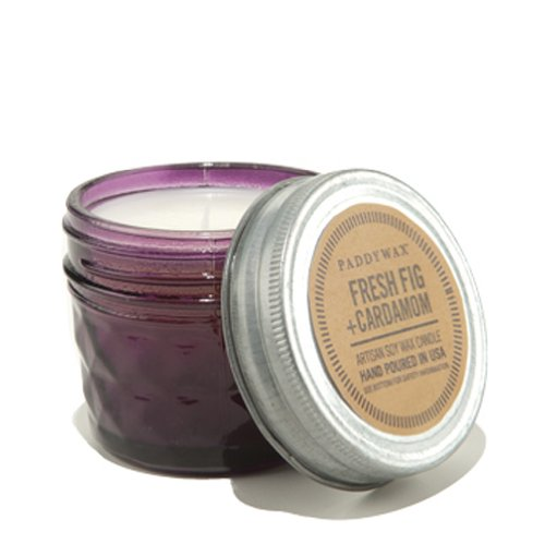 Jar Candle Wax Candle - Paddywax Relish Collection Scented Soy Wax Jar Candle, 3-Ounce, Fresh Fig & Cardamom