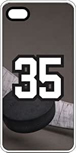 Basketball Sports Fan Player Number 35 White Rubber Decorative iPhone 4/4s Case