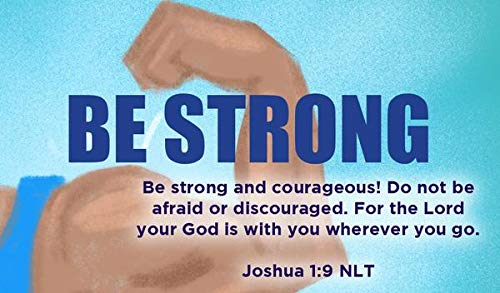 Children's Christian Pass Along Pocket Scripture Cards - Be Strong | Joshua 1:9 | Pack of -