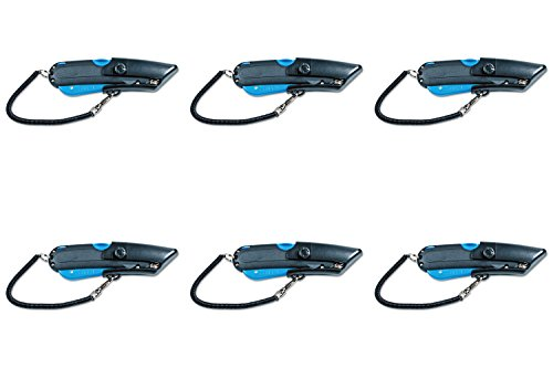 Garvey 091524 Safety Cutter with Holster, Black/Blue, 6 Packs by GARVEY