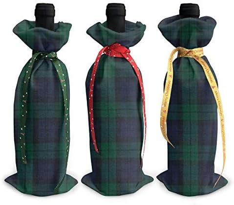 ワインバッグ クリスマスボトルカバー シャンパンワインボトル3本用 スコットランド 格子縞 ワイン収納 ボトル装飾 ギフトバッグ ギフトパッケージ クリスマスデコレーショ ワインボトルワインバッグ ギフトバッグ シャンパンプロップ クリスマス用品 ディナーテーブル デコレーションク