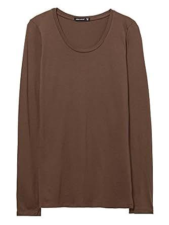 Alternative Womens Susan Scoop T-Shirt Small Cocoa