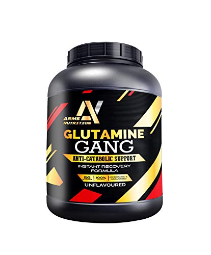 Arms Nutrition Glutamine Gang for Rapid Muscle Recovery & Gains (50 Servings) 250g