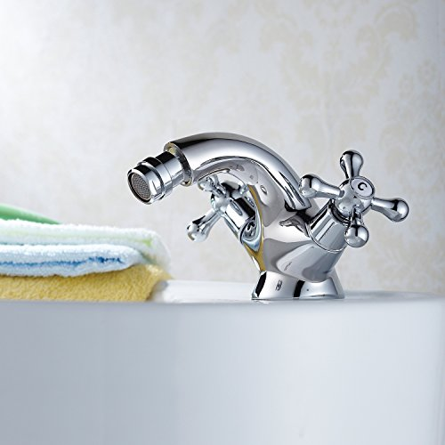 good AZOS Deck Mounted Bidet Diaper Sprayer Shattaf Toilet Faucet Sets Bathroom Shower Furnitures Replacement Chrome Polish Single Cold Water FXQ006