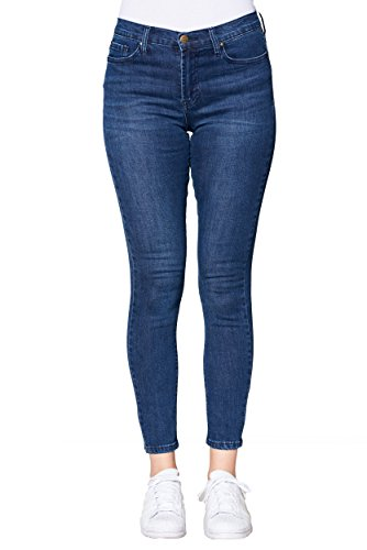 Fresh Groove Women's High Rise Skinny Jeans (Dark Blue, (High Rise Jeans Women)