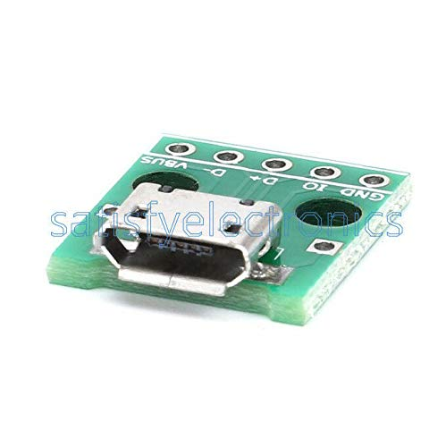 Wire /& Cable Connectors 20PCS Female Micro USB to DIP 5-Pin Pinboard 2.54mm Micro USB Type Adapter