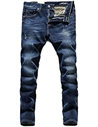 Men's Stretch Ripped Tapered Leg Jeans