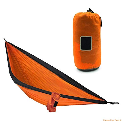 JKNA Portable Hammock Double Person Adventure Rip-Stop Nylon Orange by JKNA