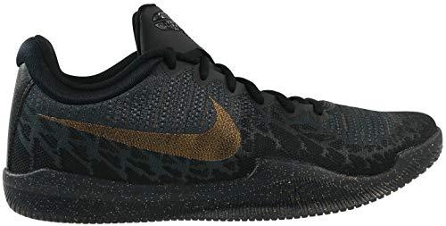 Nike Men's Mamba Rage Basketball Shoes Black/Metallic Gold/Anthracite Size 10.5 M US