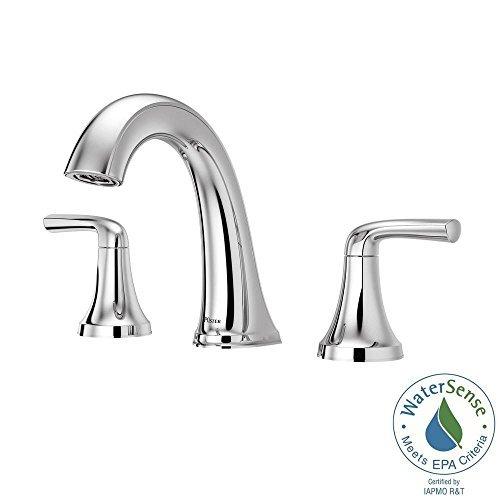 Pfister Ladera 8 in. Widespread Bathroom Faucet Chrome LF-049-LRCC - New Read