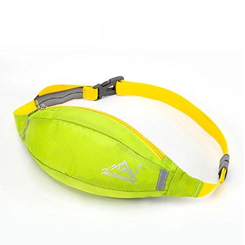 Ejecución de los bolsillos de los deportes/paquete de teléfono al aire libre ultraligero/Equipo de maratón/bolsillos Nordic Fitness-Azul claro 1 Pasto verde