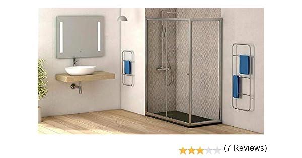 Mampara de ducha lateral fijo con cristal transparente templado de seguridad de 4mm modelo Bricodomo Catalonia ANCHO 70CM (medida adaptable 68 a 70cm): Amazon.es: Bricolaje y herramientas
