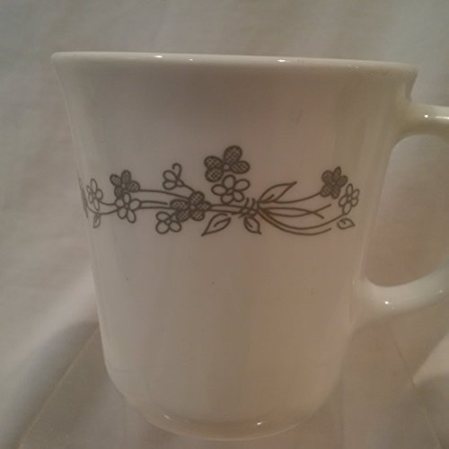 Corelle Ribbon Bouquet Coffee Cup, Corelle Gray 9 OZ Floral Coffee Cup